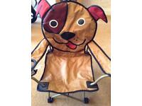 Childs doggy folding picnic chair