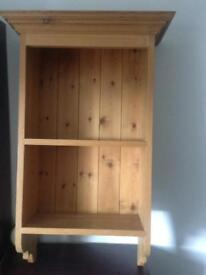 Pine wall bookcase/displaycase