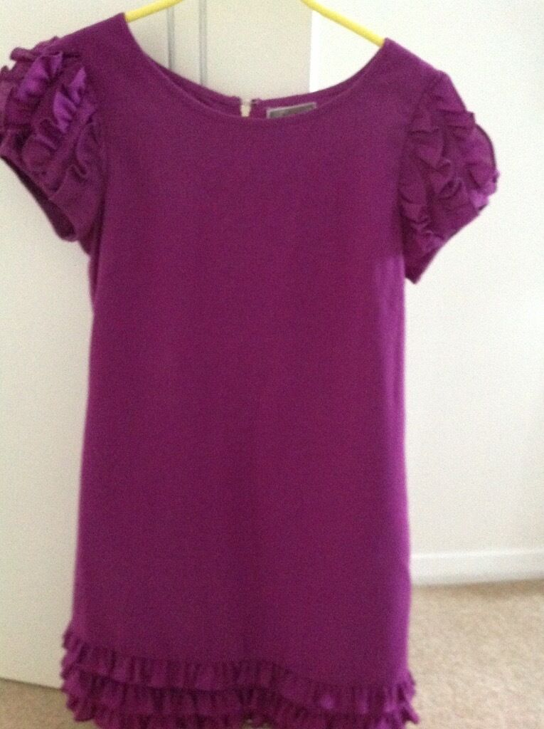 Lipsy Dressin AberdeenGumtree - Purple Lipsy dress size 8/10 with frill detail at hem and sleeves and visible zip at back,fully lined.Good condition ,Collection only from city centre location