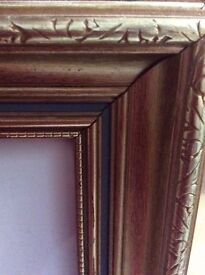 """Large gold frame 36x24"""" picture size"""