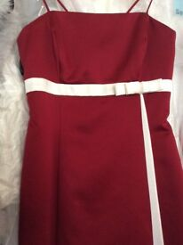 Alfred Angelo girls age 8 claret red/Ivory dress