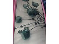 Teal ceiling light fitting
