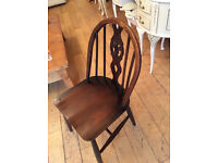 A LOVELY LITTLE GENUINE ERCOL CHAIR NICE BEDROOM CHAIR