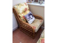 Conservatory two seater and chair
