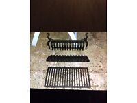 Cast Iron fireplace grate set