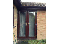 French Doors - UPVC Patio Doors - Double Glazed - Not very old