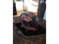Laser motorbike helmet fibre-pro bulldog size 22