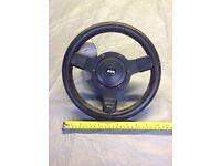 "Mountney 8"" leather sports steering wheel"