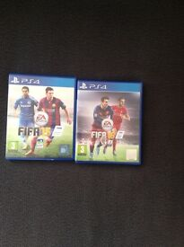 2 Games for PS4, Fifa 15 and Fifa 16