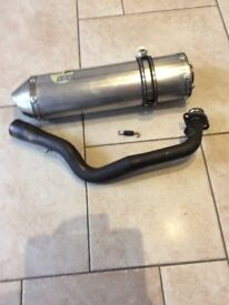 Exhaust assembly for Suzuki Burgman 400