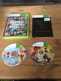 Xbox 360 2 disc grand theft auto 5