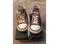 Converse high tops in size infant 8