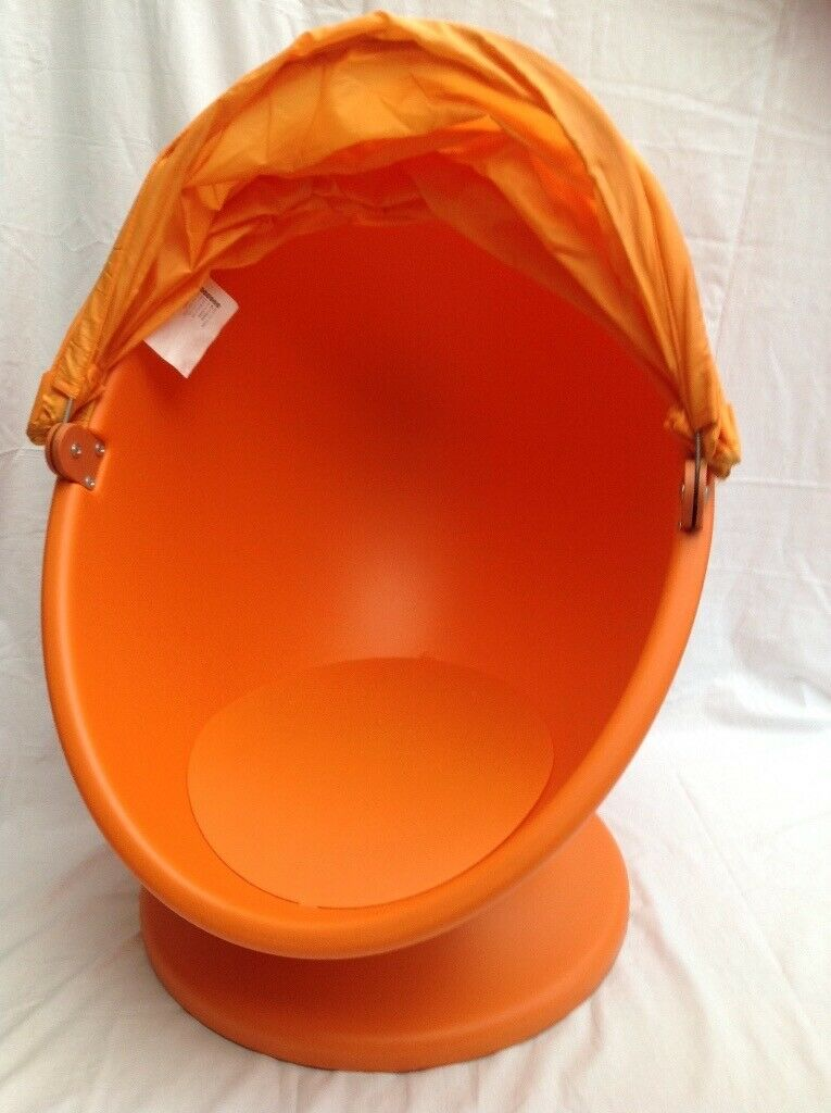 Fantastic Childrens Ikea Egg Pod Orange Swivel Chair With Canopy Ps Lomsk In Hebburn Tyne And Wear Gumtree Caraccident5 Cool Chair Designs And Ideas Caraccident5Info