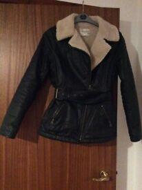 Ladies biker style wax cotton jacket