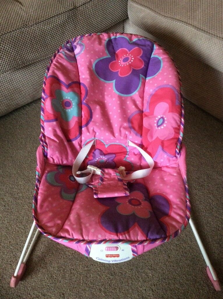 Baby bouncer Fisher Price pink