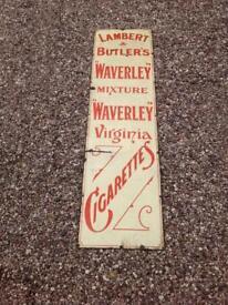 Antique Enamel Metal cigarette sign