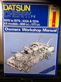 Haynes Manual For Datsun Cherry F-11 76-79