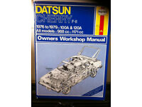 Haynes Manual For Datsun Cherry F-11 76-79