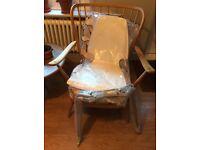 Ikea Vilmar white laminate and chrome chair - new