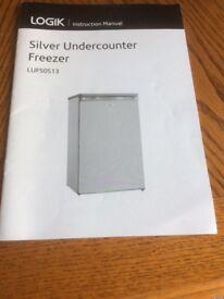Silver undercounter freezer