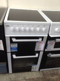 Beko white electric cooker. 50cm. £249 new/graded 12 month Gtee