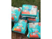 Pampers pull-up nappies