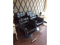 4 salon chairs for sale