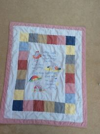 Two cot bed quilts