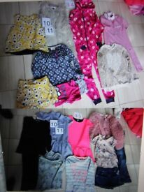 Girl's clothes, approx age 10 11, bundle of 17 items Next, One Direction etc all hardly worn