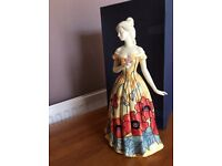Old Tipton ware hand painted lady