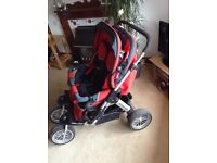 Double Pram Hercules Twin Raptor 3 Spin
