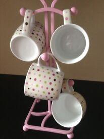 **NEW** Cups/Mugs Set of 4 Polka Dot
