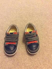 Clarks boys max spring first shoes size UK 6F