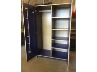 Ikea Blue Wardrobe and Chest of Draws