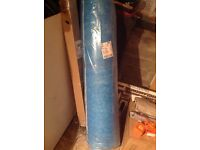 One surplus carpet underlay roll complete with edge strips