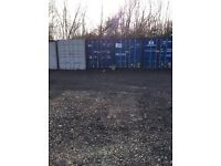 Storage containers for rent from as little as £15 p/w ground space to rent prices may vary