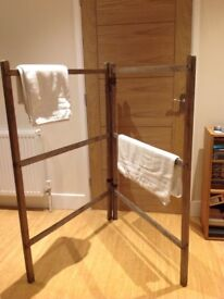 Lovely Vintage Wooden Clothes Horse Airer - All in Original Condition