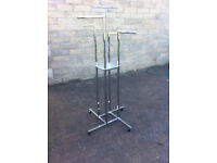 Stainless steel, modern garment display rails, 7 available