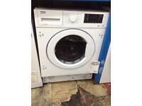 Beko intergrated 7/5 washer/dryer. £329 new/graded 12 month Gtee