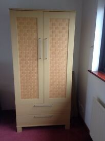 Wardrobe and 2 matching 2 drawer bedside chests