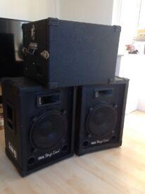 Complete Pro Disco equipment, Numark mixer, Img Stage Line speakers