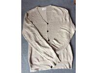 All Saints Fine Knit *Mikkeli* Alpaca Cotton V-Neck Cardigan, Size S (M) RRP £165
