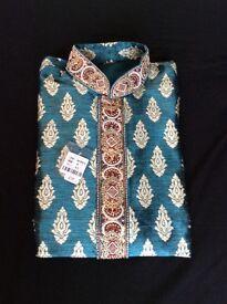 Men's wedding pRty brand new ethnic indian pakistani kurta pyjama