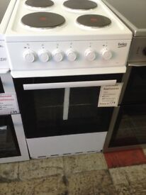 Beko 50cm single cavity electric cooker. £179 new/graded 12 month Gtee