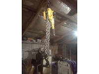 YALE UNOPLUS 3 TON 3000KG ENGINE HOIST LEVER CHAIN HOIST HIGH SPEC GREAT WORKING ORDER