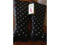 Quality Wellington Boots. New, by Joules NAVSPOT