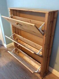 Solid Pine Shoe cupboard