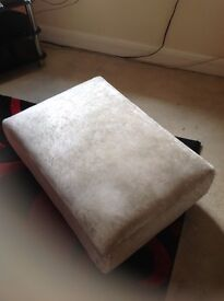 large cream mother of pearl foot stool
