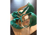 Just Fab Jade Green suede effect Sandals