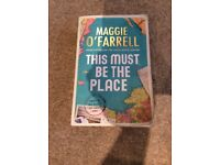 Book, This Must Be The Place by Maggie O'Farrell- paperback, used condition, £3 Hove
